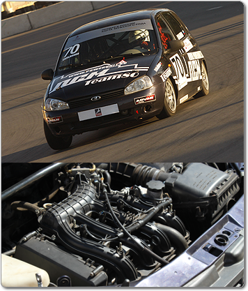 Базовый двигатель: ВАЗ - 21126.  D цилиндра / ход поршня(мм) 82,0/ 75,6. Диски задние тормозные Калина спорт.